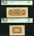 Fractional Currency:Third Issue, Fr. 1343SP 50¢ Third Issue Justice Wide Margin Back PCGS Choice New 63. Fr. 1236SP 5¢ Third Issue Wide Margin Red Back PCGS Ap... (Total: 2 notes)