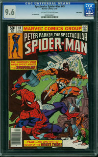 Spectacular Spider-Man #49 - MILE HIGH II PEDIGREE (Marvel, 1980) CGC NM+ 9.6 Off-white to white pages