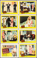 "Movie Posters:Crime, Vice Raid (United Artists, 1960). Lobby Card Set of 8 (11"" X 14"").Crime.. ... (Total: 8 Items)"