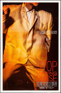 """Stop Making Sense (Island Alive, 1984). One Sheet (27"""" X 41"""") Yellow Style. Rock and Roll"""