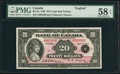 Canadian Currency: , BC-9a $20 1935 Large Seal. . ...