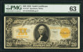 Large Size:Gold Certificates, Fr. 1187 $20 1922 Gold Certificate PMG Choice Uncirculated 63.. ...