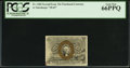 Fractional Currency:Second Issue, Fr. 1284 Milton 2R25.2g 25¢ Second Issue PCGS Gem New 66PPQ.. ...