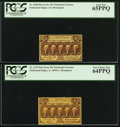 Fractional Currency:First Issue, Fr. 1279 25¢ First Issue PCGS Very Choice New 64PPQ. Fr. 1280 25¢First Issue PCGS Gem New 65PPQ.. ... (Total: 2 notes)