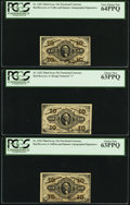 Fractional Currency:Third Issue, Fr. 1252 10¢ Third Issue PCGS Choice New 63PPQ. Fr. 1253 10¢ Third Issue PCGS Very Choice New 64PPQ. Fr. 1254 10¢ Thir... (Total: 3 notes)