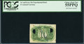 Fractional Currency:Second Issue, Milton 2E10R.4 10¢ Second Issue Experimental Back PCGS Choice About New 55PPQ.. ...
