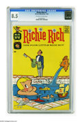 Silver Age (1956-1969):Humor, Richie Rich #1 (Harvey, 1960) CGC VF+ 8.5 Off-white to white pages. Harvey had quite a lineup of funny books in the late 195...