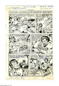 "Original Comic Art:Panel Pages, Sal Buscema - Hostess Twinkie Ad/Story ""Captain America in aFriendly Gesture"" Original Art (1977). Captain America cuts his...(Total: 2 items)"