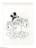 Original Comic Art:Covers, Western Publishing Artist - Uncle Scrooge #137 Cover Original Art(Gold Key, 1976). Pumping iron just doesn't cut it for the...