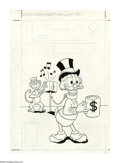 Original Comic Art:Covers, Western Publishing Artist - Uncle Scrooge #144 Cover Original Art(Gold Key, 1977). Uncle Scrooge finds life a real grind wh...