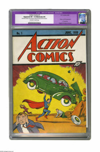 Action Comics #1 (DC, 1938) CGC VF- 7.5 Moderate (P) Off-white to white pages. Your eyes do not deceive you -- this is a...