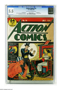 Golden Age (1938-1955):Superhero, Action Comics #14 (DC, 1939) CGC FN- 5.5 Light tan to off-white pages. Good news and better news! We knew we had good news w...