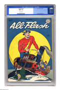 Golden Age (1938-1955):Superhero, All-Flash #27 (DC, 1947) CGC NM+ 9.6 Off-white pages. Martin Naydel drew this issue's yuk-it-up cover featuring the antics o...