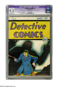 Platinum Age (1897-1937):Miscellaneous, Detective Comics #6 (DC, 1937) CGC Apparent NM- 9.2 Moderate (P)Off-white pages. This impressive copy is a great example of...