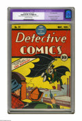 Golden Age (1938-1955):Superhero, Detective Comics #27 (DC, 1939) CGC Apparent FN 6.0 Slight (P) Off-white to white pages. This historic comic book needs litt...