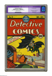 Detective Comics #27 (DC, 1939) CGC Apparent FN 6.0 Slight (P) Off-white to white pages. This historic comic book needs...