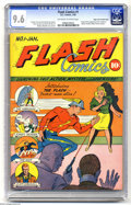 Golden Age (1938-1955):Superhero, Flash Comics #1 Mile High pedigree (DC, 1940) CGC NM+ 9.6 Off-white to white pages. One of the most important comic books of...