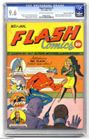 Featured item image of Flash Comics #1 Mile High pedigree (DC, 1940) CGC NM+ 9.6 Off-white to white pages. One of the most important comic books of...