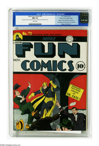 """More Fun Comics #73 Mile High pedigree (DC, 1941) CGC NM 9.4 White pages. Overstreet and Gerber agree this is a """"sc..."""