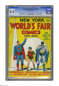 New York World's Fair Comics 1940 (DC, 1940) CGC VF+ 8.5 Cream to of-white pages. This is the only copy of this valuable...