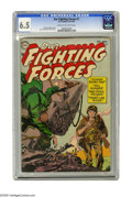 Golden Age (1938-1955):War, Our Fighting Forces #1 (DC, 1954) CGC FN+ 6.5 Cream to off-whitepages. This is the first time we had ever seen this first i...