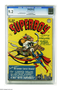 Superboy #7 (DC, 1950) CGC NM- 9.2 Off-white to white pages. As of this writing, this copy tops CGC's census by a health...