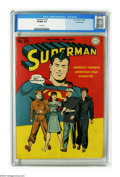 Golden Age (1938-1955):Superhero, Superman #29 Crowley Copy pedigree (DC, 1944) CGC VF/NM 9.0 White pages. A great patriotic cover has all three branches of t...