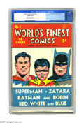 Golden Age (1938-1955):Superhero, World's Finest Comics #2 (DC, 1941) CGC FN/VF 7.0 Cream to off-white pages. Best becomes Finest with this issue, and...