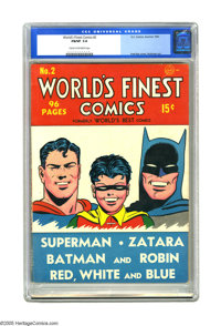 World's Finest Comics #2 (DC, 1941) CGC FN/VF 7.0 Cream to off-white pages. Best becomes Finest with this issue, and
