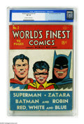 Golden Age (1938-1955):Superhero, World's Finest Comics #2 (DC, 1941) CGC FN 6.0 Off-white to white pages. With this second issue, a title change from Best...
