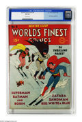 Golden Age (1938-1955):Superhero, World's Finest Comics #4 (DC, 1941) CGC VF 8.0 Off-white pages. Superman and the Dynamic Duo team of Batman and Robin need a...