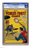 Golden Age (1938-1955):Superhero, World's Finest Comics #25 (DC, 1946) CGC VF 8.0 Off-white to white pages. Superman, Batman, Green Arrow, and the Boy Command...