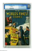 Golden Age (1938-1955):Superhero, World's Finest Comics #28 Crowley Copy pedigree (DC, 1947) CGC NM- 9.2 Cream to off-white pages. This one's got it all: a gr...
