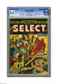 Golden Age (1938-1955):Superhero, All Select Comics #1 (Timely, 1943) CGC VF 8.0 Off-white to white pages. One of the most famous Alex Schomburg covers of all...