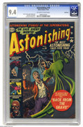 Golden Age (1938-1955):Horror, Astonishing #19 Bethlehem pedigree (Atlas, 1952) CGC NM 9.4Off-white to white pages. Finding a pre-Code horror book in high...