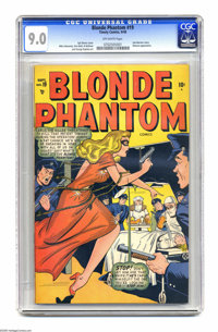 Blonde Phantom #19 (Timely, 1948) CGC VF/NM 9.0 Off-white pages. The Blonde Phantom was Timely's answer to Ginger Rogers...