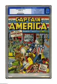 Captain America Comics #1 Kansas City pedigree (Timely, 1941) CGC VF/NM 9.0 Cream to off-white pages. This is one of the...