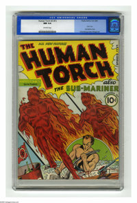 The Human Torch #2 (#1) (Timely, 1940) CGC NM 9.4 Off-white pages. This is the finest copy yet certified of this hotly s...