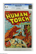 Golden Age (1938-1955):Superhero, The Human Torch #3 (#2) (Timely, 1940) CGC VF+ 8.5 Cream to off-white pages. Here's a very attractive copy of the second H...