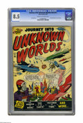 Golden Age (1938-1955):Science Fiction, Journey Into Unknown Worlds #36 (#1) (Atlas, 1950) CGC VF+ 8.5Cream to off-white pages. How does a first issue become #36? ...