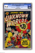 Golden Age (1938-1955):Science Fiction, Journey Into Unknown Worlds #37 (#2) (Atlas, 1950) CGC NM 9.4Off-white pages. End-of-the-world scenarios dominated the firs...