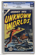 Golden Age (1938-1955):Science Fiction, Journey Into Unknown Worlds #32 Bethlehem pedigree (Atlas, 1954)CGC NM- 9.2 Off-white pages. Bill Everett cover. This is th...