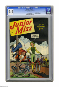 Junior Miss #1 Carson City pedigree (Timely, 1944) CGC NM- 9.2 Off-white pages. The famed Carson City collection (someti...