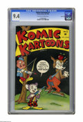 Golden Age (1938-1955):Funny Animal, Komic Kartoons #1 Carson City pedigree (Timely, 1945) CGC NM 9.4Off-white to white pages. Not many people seem to have save...