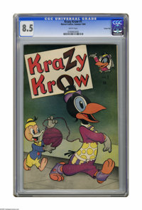 Krazy Krow #1 Carson City pedigree (Marvel, 1945) CGC VF+ 8.5 White pages. No copy has been graded higher by CGC to date...