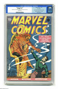 Golden Age (1938-1955):Superhero, Marvel Comics #1 Pay Copy (Timely, 1939) CGC VF/NM 9.0 Off-whitepages. Holder of the Guinness world record for the most val...