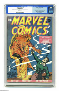 Marvel Comics #1 Pay Copy (Timely, 1939) CGC VF/NM 9.0 Off-white pages. Holder of the Guinness world record for the most...