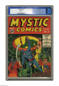 Golden Age (1938-1955):Superhero, Mystic Comics #1 Allentown pedigree (Timely, 1940) CGC NM- 9.2 Off-white pages. Not only is this Allentown copy the highest-...