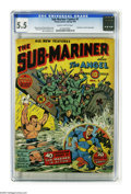 Golden Age (1938-1955):Superhero, Sub-Mariner Comics #1 (Timely, 1941) CGC FN- 5.5 Slightly brittle pages. Ranked among the 20 most valuable comic books by Ov...
