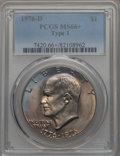 Eisenhower Dollars, 1976-D $1 Type One MS66+ PCGS. PCGS Population: (321/6 and 15/0+). NGC Census: (266/7 and 0/0+). Mintage 21,048,710. ...